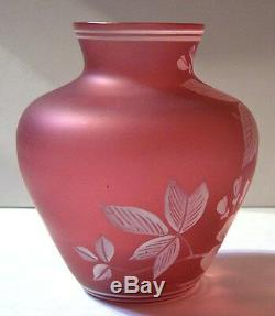 2vintage Czech Bohemian Floretene Florentine enamel cameo art glass vase pitcher