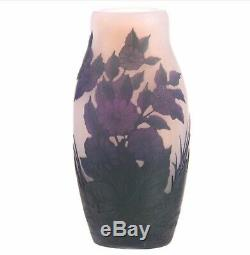 6 Cameo Art Glass Vase Floral Overlay Signed Arsall