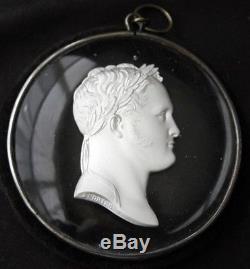 ALEXANDER I Andrieu Cameo Sulphide Medallion DESPREZ