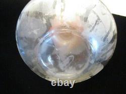 ART DECO Vintage BAKELITE ANCHOR & Cameo Glass PERFUME BOTTLE