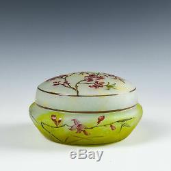 A Daum Nancy Cameo Glass Powder Box c1900