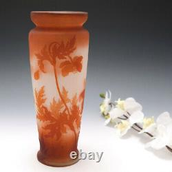 A Galle Cameo Glass Vase Poppies c1900