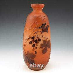 A Galle Three Colour Cameo Glass Vase c1920