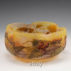 A Large Daum Enamelled Cameo Glass Bowl c1905