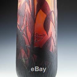 A Very Tall Daum Nancy Vase c1910