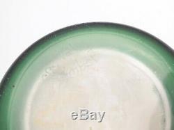 Antique Art Nouveau Cameo Glass Green Vase Leon Ledru Val Saint Lambert Belgium