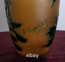 Antique D'argental French Cameo Glass Vase