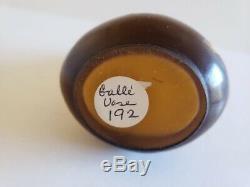 Antique Émile Gallé Art Glass Brown Over Yellow Cameo Bud Vase 5 Art Nouveau