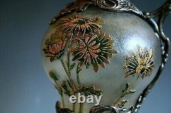 Antique French Art Nouveau Cameo Glass Claret Jug / Pitcher Possibly Daum