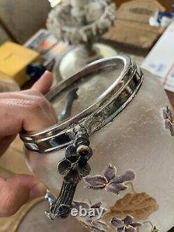 Antique French Legras Montjoye Victor Saglier cameo glass jar c 1890
