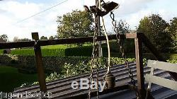 Antique Le Verre Francais PATE DE VERRE chandelier Schneider Cameo acid etched