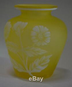 Antique Thomas Webb Cameo Glass Vase c. 1885 England Art Glass Signed