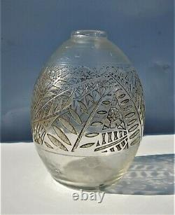 Antique Vintage France Authentic Delatte Nancy Large Acid Cameo Glass Vase