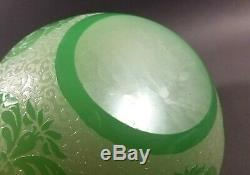 Antique Vintage STEUBEN Acid Etched Cameo Art Glass Bowl Chinese Early 20th C