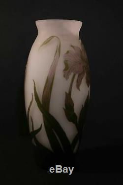 Arsall signed, French cameo glass vase, monumental size c. 1920