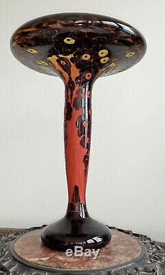 Art Glass Cameo Art Deco Le Verre Francais Charles Schneider Casiform