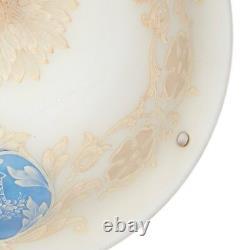 Art Nouveau Cameo Glass Plafonnier Lamp Shade Early 20th C