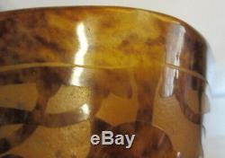 Art deco Schneider Le Verre Francais cameo glass acid etched vase