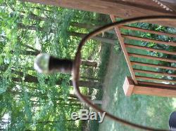 Arts & Crafts era Cameo Glass Ships Trees Lamp Base Handel era