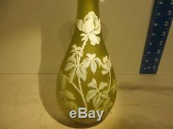 Authentic 12.25H by 5W circa 1900 Thomas Webb Cameo Art Glass