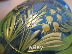 Authentic rare Loetz cameo/cut glass vase PN III-1821 ca. 1923