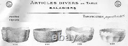 Baccarat Bowl Dish Cameo Glasses Coupe Saladi Cristal Grave Acide Art Nouveau Ad