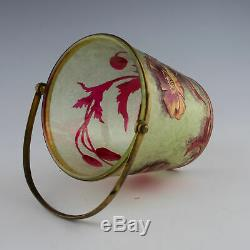Baccarat Cameo Glass Jardiniere c1910