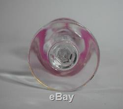 Baccarat Cranberry Cameo Wine Glass, Circa 1910
