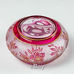 Baccarat Eglantier Cameo Trinket Dish c1910