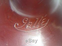 Beautiful Authentic Galle Cameo Glass Lamp Base, Signed
