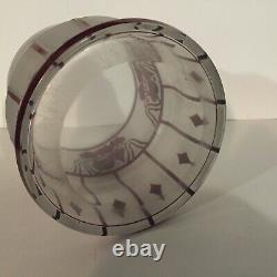 Bohemian glass Art Nouveau acid cut back cameo glass vase