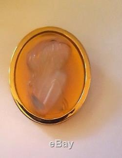 Brooch Lalique Cameo Exquisit Opalescent Art Nouveau Style Stunning