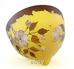 Cameo Art Glass Table Lamp Shade Signed Galle Lamp Shade w Flowers