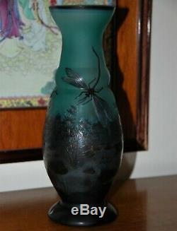 Cameo Art Glass Vase Signed
