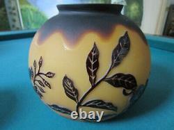 Cameo Galle Style Globe Vase