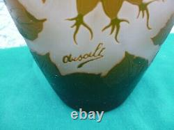 Cameo glass vase ARSALL -Germany signed-bargain item