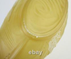 Consolidated Phoenix glass yellow Banana boat diving girl long cameo glass bowl