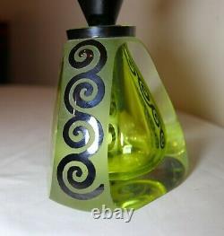 Correia Art Glass Tuxedo Perfume hand blown cameo art glass scent perfume bottle