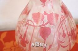 Cristallerie de Pantin Art Nouveau French Cameo Vase