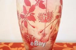 Cristallerie de Pantin Art Nouveau big French Cameo Vase