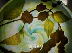 DAUM Nancy original acid cameo cut LARGE lidded BOX Multi Coloured! OLD