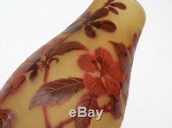 D'argental Splendid Art Nouveau Cameo Vase Stunning Decor