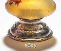 Daum Cameo Thistle Vase Art Nouveau French Glass c1900 Signed to Base