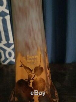 Daum Nancy Art Nouveau Cameo Vase # 1