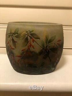 Daum Nancy Art Nouveau Cameo Vase, Floral design