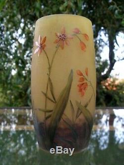 Daum Nancy Art Nouveau Splendid Cameo Vase Flowers
