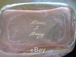 Daum Nancy Cameo Glass Perfume Bottle A Tout Seigneur Tout Honneur