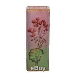 Daum Nancy Cameo and Enamel Glass Vase