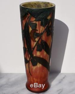 Daum Nancy Cameo and Enameled Art Nouveau Vase