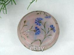 Daum Nancy Fabulous Art Nouveau Cameo Box Flowers Decor